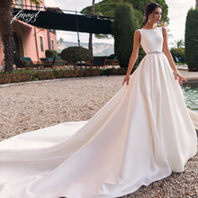 Fmogl Sexy Backless Sashes Wedding Dresses 2019 Court Train