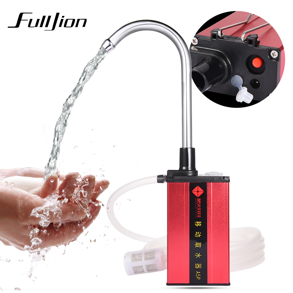 Fulljion Fishing Suction Device Charge Automatic Pump Intake Hand Washers Water Absorber Machine Outdoor Fishing Equipment Tool