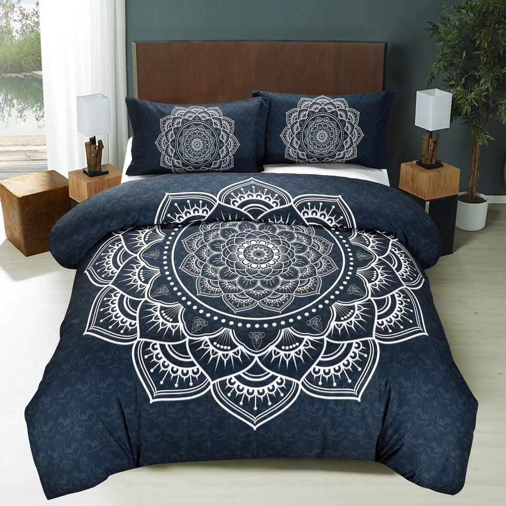 Indian mandala Duvet Quilt Cover Bohemian Twin Comforter Dorm Decor Bedding Set