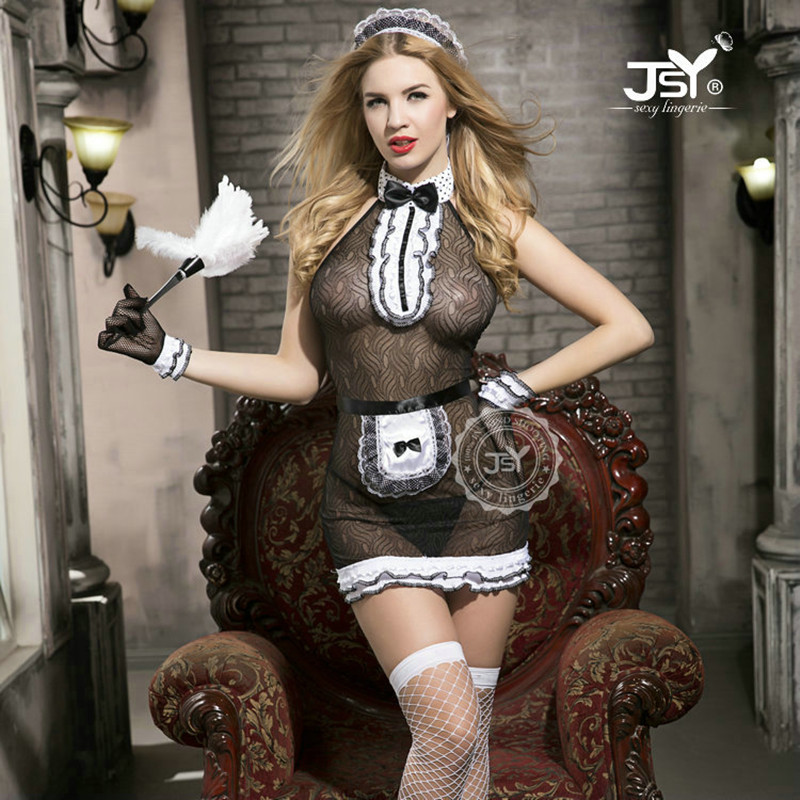 9723 Sexy French Maid Cosplay Costumes Women Exotic -1316