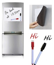 Купить с кэшбэком A4 Size Magnetic Whiteboard Fridge Magnets White Board Home Kitchen Message Board Writing Sticker Dry Wipe Board Magnetic Marker