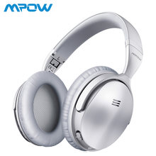 fe43798898c (Ship from US) Mpow H5 Silver Wireless/Wired Headphones Bluetooth V4.1 Active  Noise Cancelling Headset Deep Bass For iPhone Xiaomi Huawei SONY