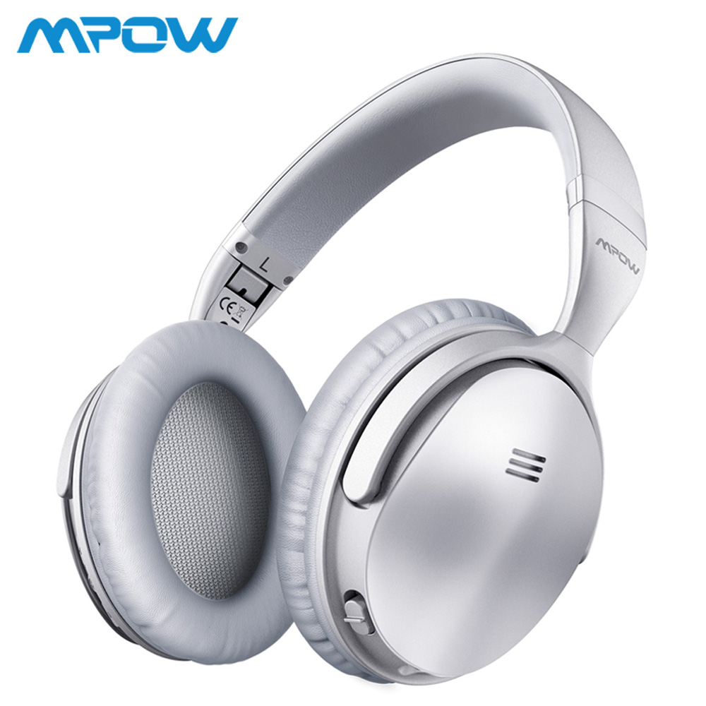 Mpow H5 argent sans fil/filaire casque Bluetooth V4.1 actif suppression de bruit casque basse profonde pour iPhone Xiaomi Huawei SONY