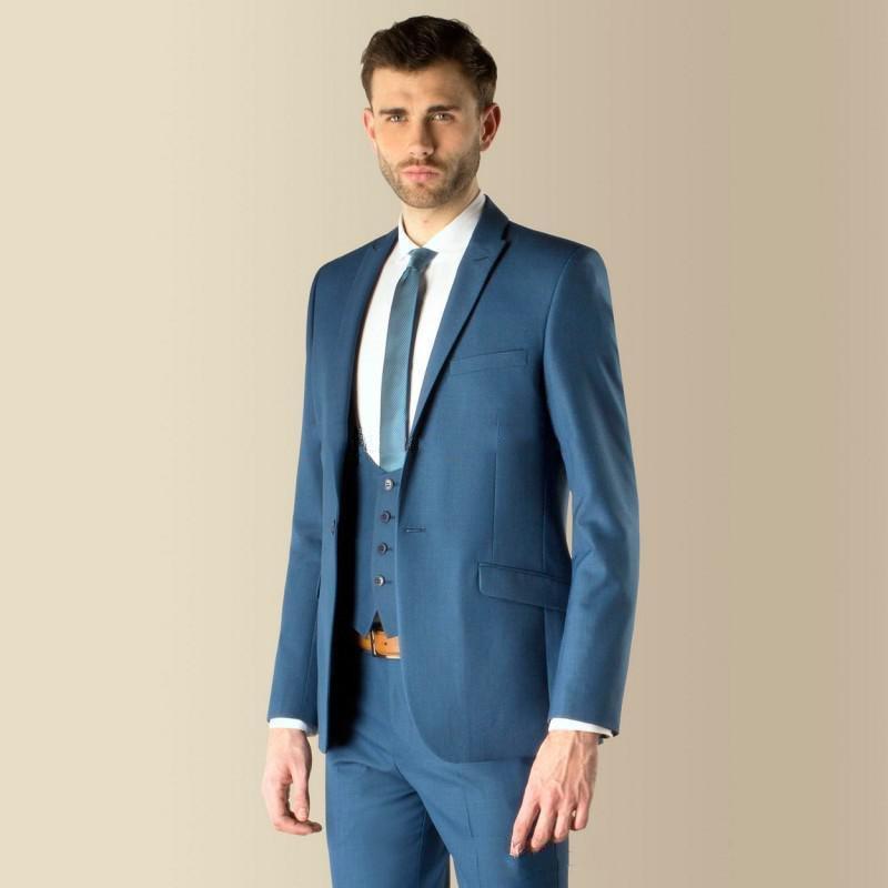 a05baba0dbf New Style Groom Tuxedo One Button Groomsmen Notch Lapel Wedding Dinner Suits  Best Man Bridegroom (Jacket+Pants+Tie+Vest) B442