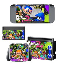 Game Splatoon 2 Skin Sticker vinyl for NintendoSwitch stickers skins for Nintendo Switch NS Console and Joy-Con Controllers