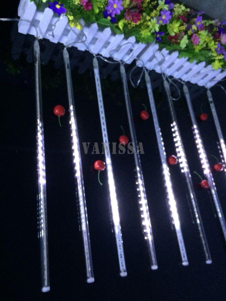 50cm meteor shower rain s ac100 240v led christmas lights wedding party garden xmas string
