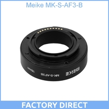 Meike MK-S-AF3-B Plastic Extension Tube Close Shot Adapter Ring Lens for Auto Focus Sony NEX Micro DSLR 10,16mm E-Mount Camera