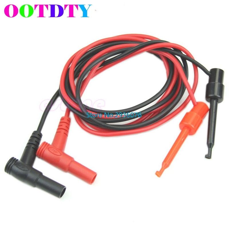 1 Paar Banana Stecker Zu Test Haken Clip Sonde Kabel Für Multimeter Test-anlagen Hause Werkzeug Apr15_35