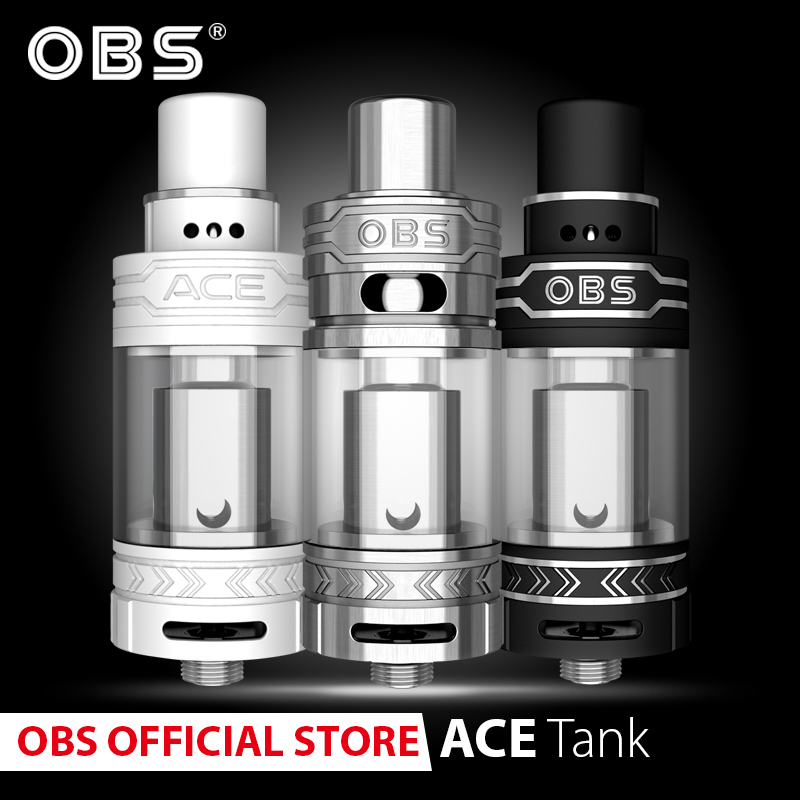 Original OBS ACE Atomizer With 4.5ml Tank And 0.45ohm &0.3ohm Ceramic Coil And 510 Thread For E- Cigarettes Vapor Vaporizer