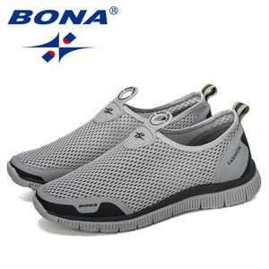 Image 3 - BONA Men Breathable Casual Shoes Krasovki Mocassin Basket Homme Comfortable Sneakers Shoes Chaussures Pour Hommes Mesh Shoe