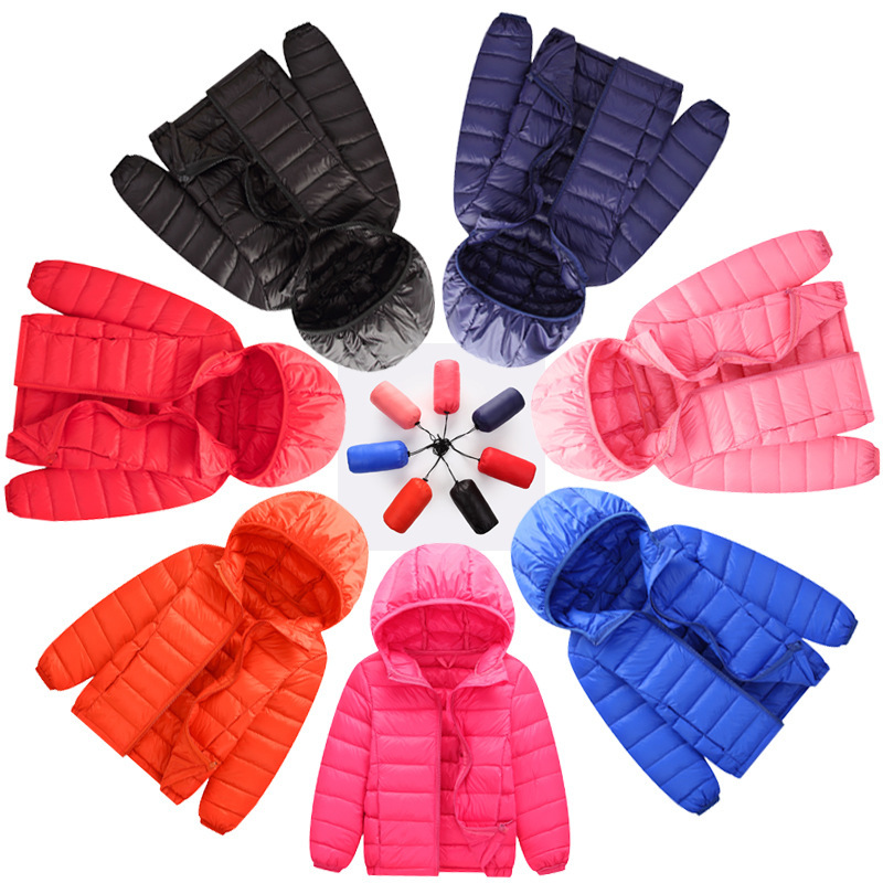 New Brand 100% Duck Down Feather Ultra Light Children Jackets Kids Snowsuit Coats Boy Girl Hooded Parka Outerwear Winter Jacket пуховик для мальчиков brand new 110 150 drop boy outerwear page 3