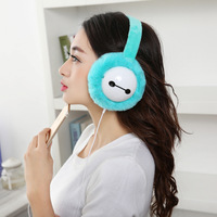 Music Earmuff Headphones Warmer Ear Muffs Faux Fur Ear Muffs Plush Headphones Soft Warmer Women Girls