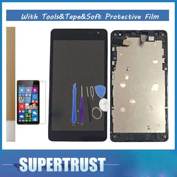 For Microsoft Lumia 535 N535 2C/2S Version RM-1089 RM-1090 RM-1091 RM-1092 With Frame LCD Display+Touch Screen Assembly with kit
