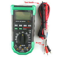 Eletrical MASTECH MS8229 Digital Multimeter Auto Manual Range 20 400C AC DC Test Leads Cable Thermocouple