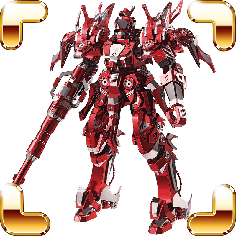 Top Quality Gift Red Thunder Metal Model Building Large Luxury Figure Educational Assemble Toy Alloy Collection House Decoration luxury gift blue mosque 3d puzzles model big building construction toys max level iq game huge house decoration collection model