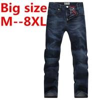 50 48 46 44 9XL 8XL 6XL 5XL Jeans Male Casual Straight Denim Men's old processing Jeans Slim fold denim Brand Jeans Full Length