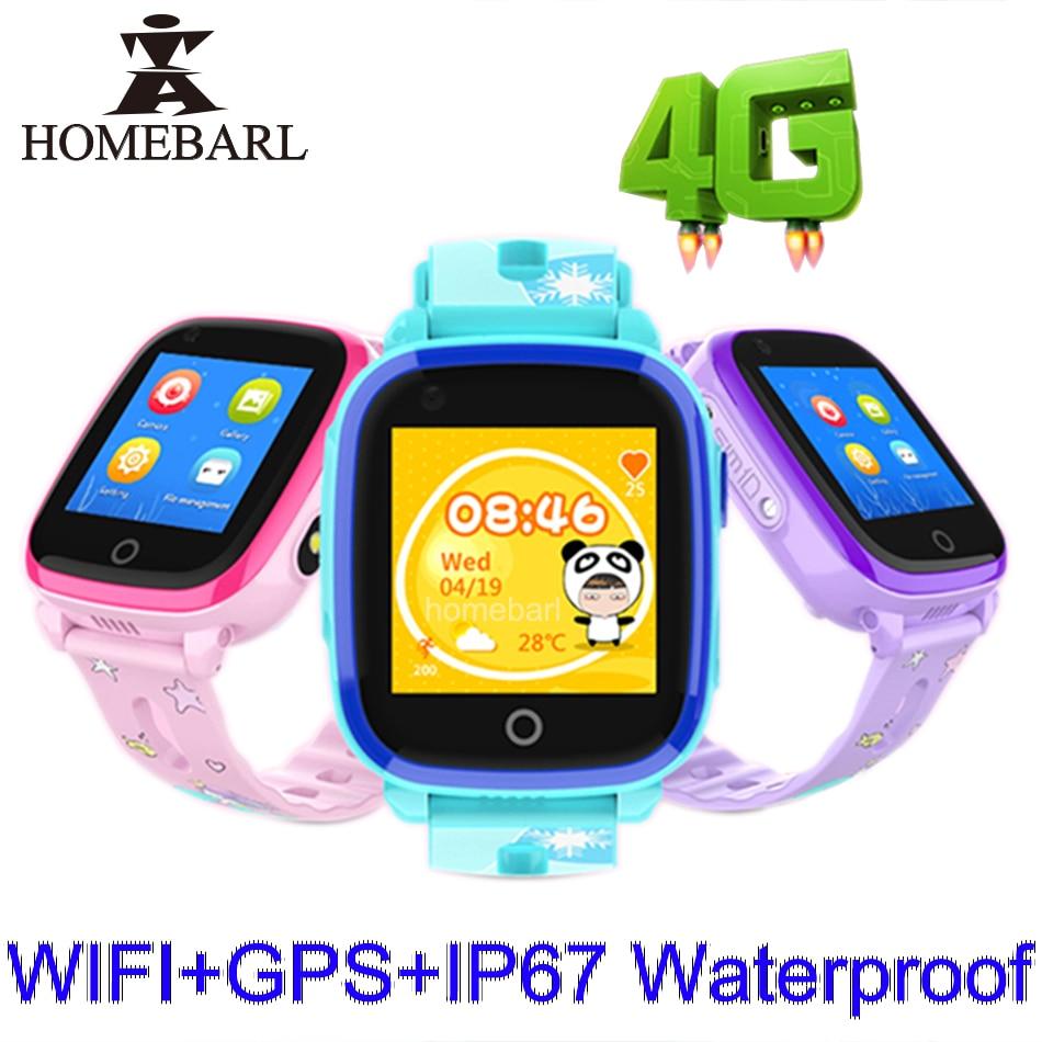 4G WIFI IP67 DF33 GPS Crianças Telefone Bebê À Prova D' Água Relógio Inteligente Bonito SOS Localização LBS Rastreador Crianças Área Segura anti-Perdido Do Monitor