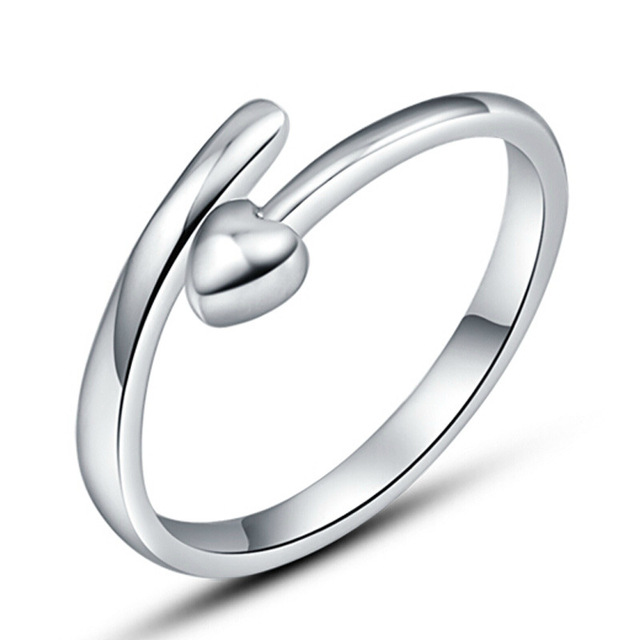 Well known NEHZY Silver heart shaped ring eternity ring opening men's wild  XW42