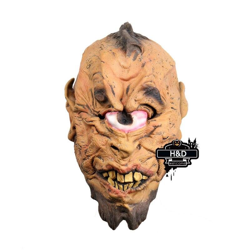 Latex Devil Full Head Cyclops Eye Ghost Mask Scary