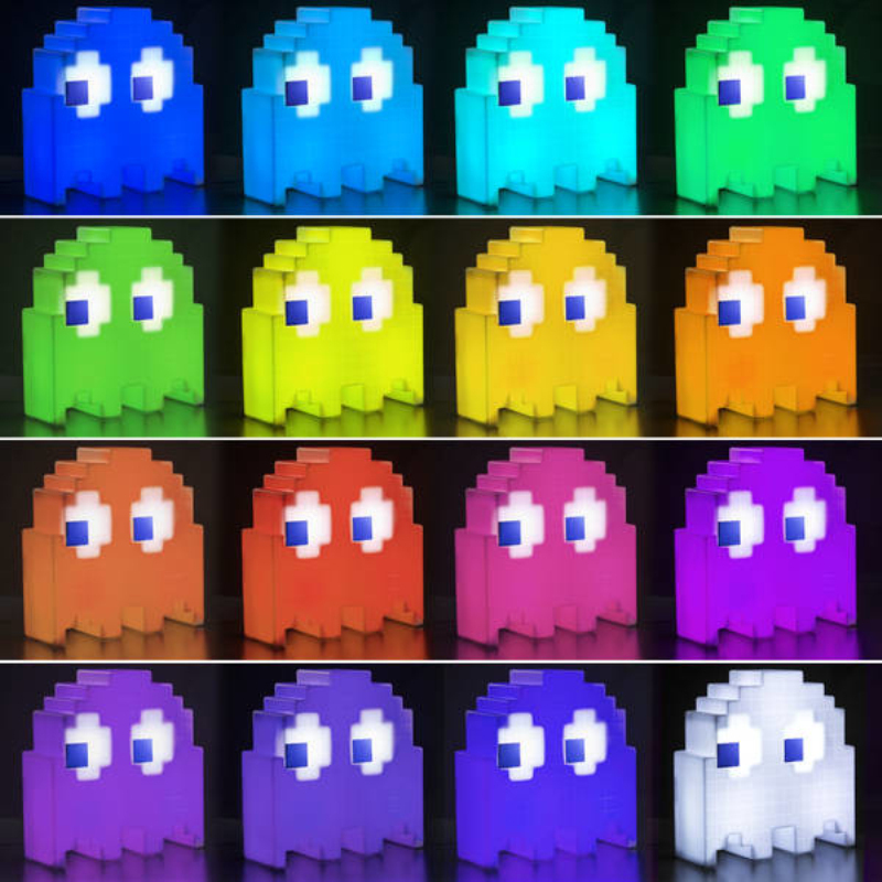 (Video Ad) 1Piece Pac Man USB Ghost Lamp Color Changing Pac Man Ghost Light  8 Bit Pixel Style Multi Color Lamp In Puzzles From Toys U0026 Hobbies On ...