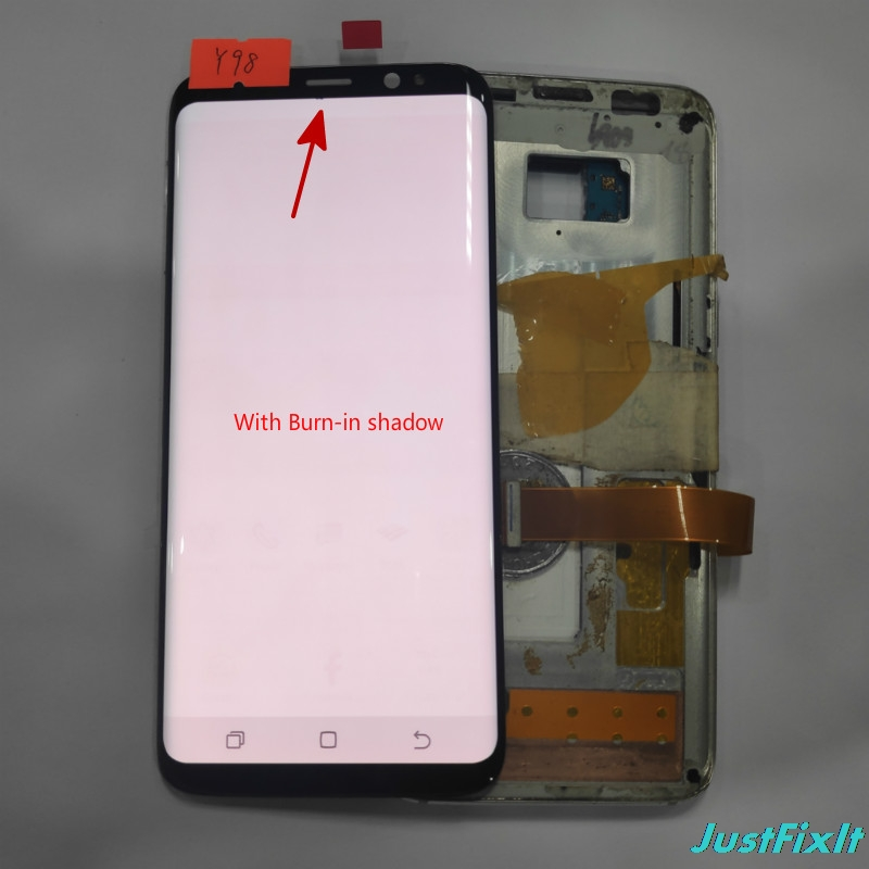 NO Y98 For Samsung Galaxy S8 G950 G950U G950f G950fd shadow Lcd Display With Touch Screen