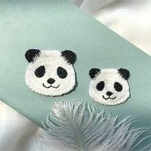 AHYONNIEX Милая панда мультфильм вышивка утюг на патч DIY одежда значок Швейные наклейки на патч