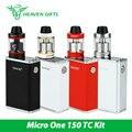 100% original smok micro uno 150 tc starter kit cigarrillo electrónico w/r150 tc caja mod 1900 mah y 4 ml kit de minos smok tanque sub vs g-priv