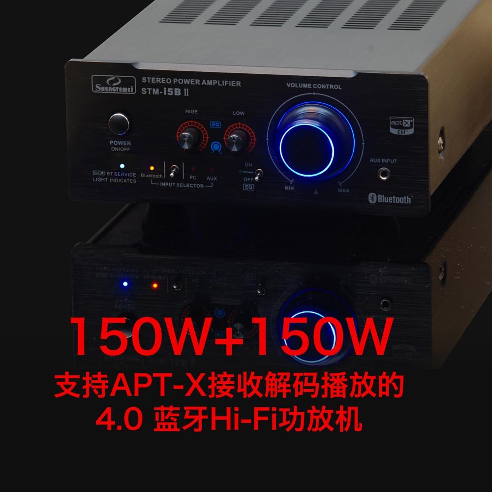 Iwistao Hifi Bluetooth X100w Power Amplifier Audio Ne5532 Preamp Class B 15w By Transistor New Version Smt I5b Ii 20 Stereo Apt X
