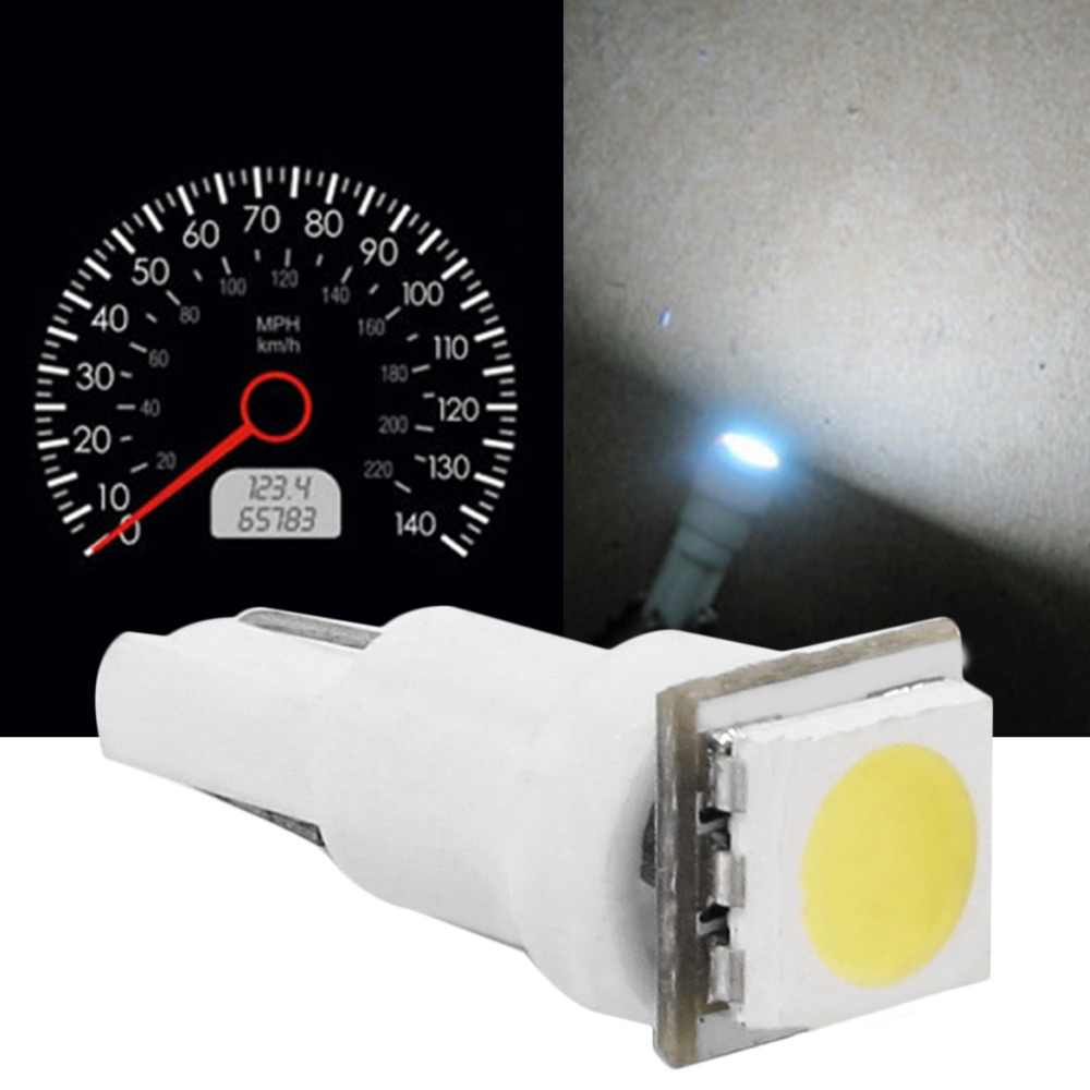 T5 Plug and Play White Dashboard Gauge 1SMD LED Instrument Panel Light Bulb Up to 50000+ Hours