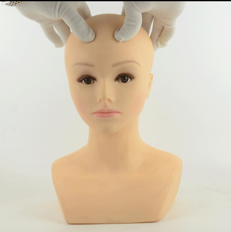 Free Shipping Mannequin Manequin Dummy Soft Mannequin Head for Make UP Massage マネキン ヘッド 女性 ガラス