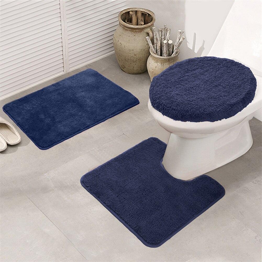 3 pièces ensemble de tapis de salle de bain, anti-dérapant cuisine tapis de bain tapis salle de bain tapis de toilette, lavable Tapete Banheiro pour la maison