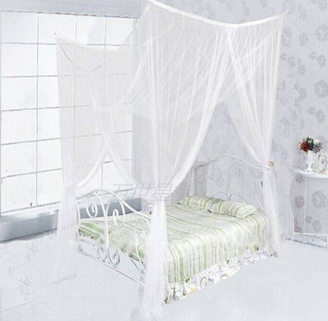Four Corner Point Bug Insect Mosquito NetLarge Bed CanopyMultiple color choices  sc 1 st  AliExpress.com & Four Corner Point Bug Insect Mosquito NetLarge Bed Canopy ...