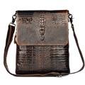 First Layer Cow Skin 100% Genuine Leather Bag For Men Crocodile Style Men's Business Messenge Bag Tablet PC handbag
