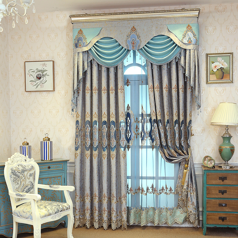 High Window Curtains: Luxury Curtains High Grade Curtains For Bedroom Chenille