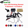 High Quality Car Parking Sensor Monitor Auto Reverse Backup Radar Detector System 4 Sensors Car Parking Assistance LED Display