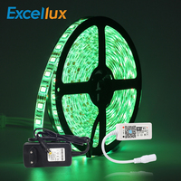 LED Strip set 5M 60LEDs/m IP65 Waterproof RGB LED Strip Home Decoration Light + Mini Wifi RGB LED Controller+DC12V Power Adapter