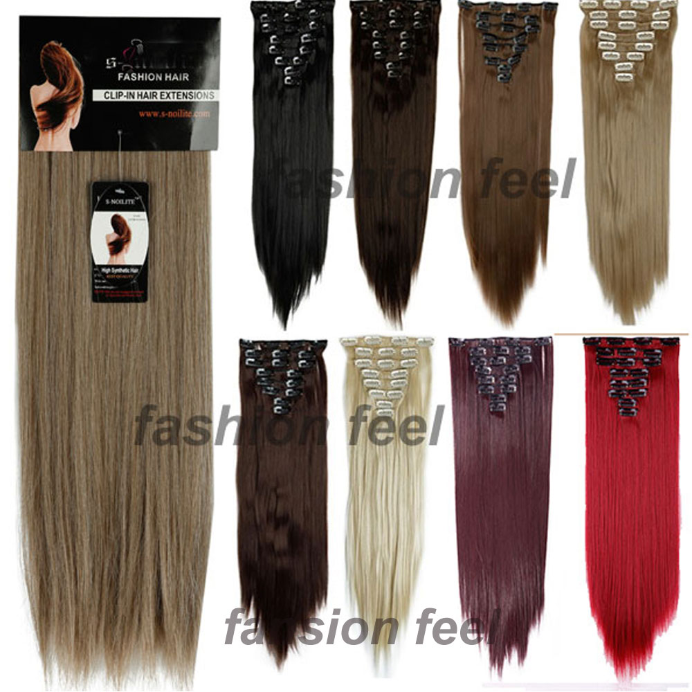 Factory price 24inches 66cm real thick clip in hair extensions factory price 24inches 66cm real thick clip in hair extensions long straight full head hair extentions black brown blonde red on aliexpress alibaba pmusecretfo Images