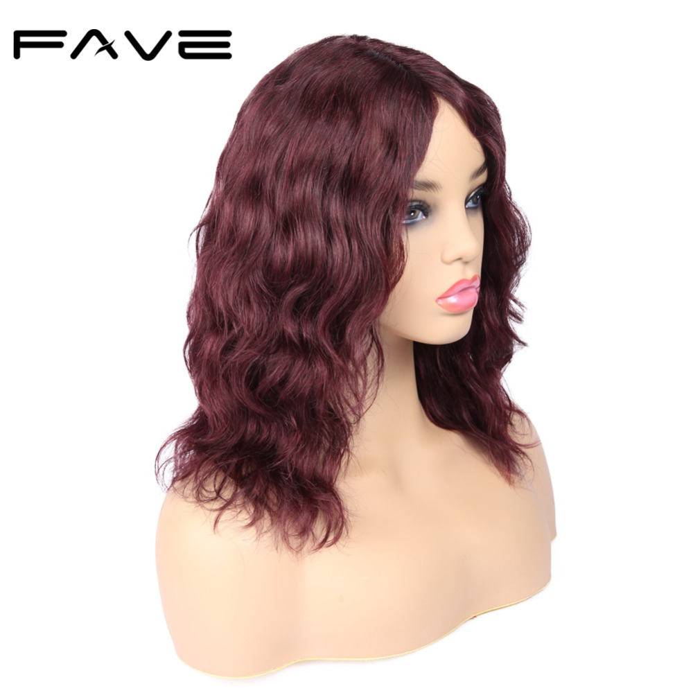 Glueless Lace Front Human Hair Natural Wave Wigs Lace Middle Part Brazilian Wig Natural Black 99J