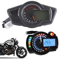 Motorcycle Black 12000 RPM Multi Function Odometer Speedometer Tachometer Gauge