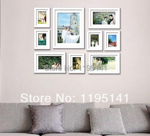 Free shipping 9 PCs Eco friendly Photo Frames Set Wall Photo Frame ...