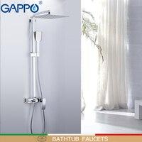 GAPPO bathtub faucets wall mounted shower heads waterfall rainfall bath mixer shower sets bathroom rainfall shower|Bathtub Faucets|   -