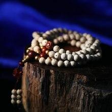 Tibetan Mala Bodhi Seeds 108 Beads Mala Buddhist 108 Prayer Beads Redsandalwood Bodhi Mala
