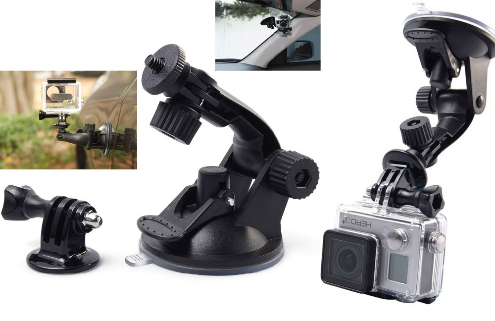 US $4 54 7% OFF|Go pro Car Suction Cup Adapter Window Glass Mount Holder  Tripod for Gopro Hero 4 3 2 Sjcam Sj4000 Xiaomi Yi Camera Accessories-in
