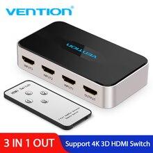 Vention Переключатель HDMI 3 Вход 1 выход 4 K x 2 K HDMI Splitter для xbox 360 PS3 PS4 Smart Android PC ноутбук HDMI адаптер