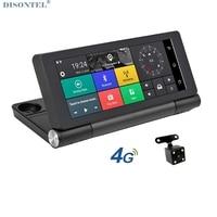 7 4G Car Camera DVR Mirror GPS Bluetooth Dual Lens Rearview Mirror Video Recorder Full HD 1080P Automobile DVR Dash cam