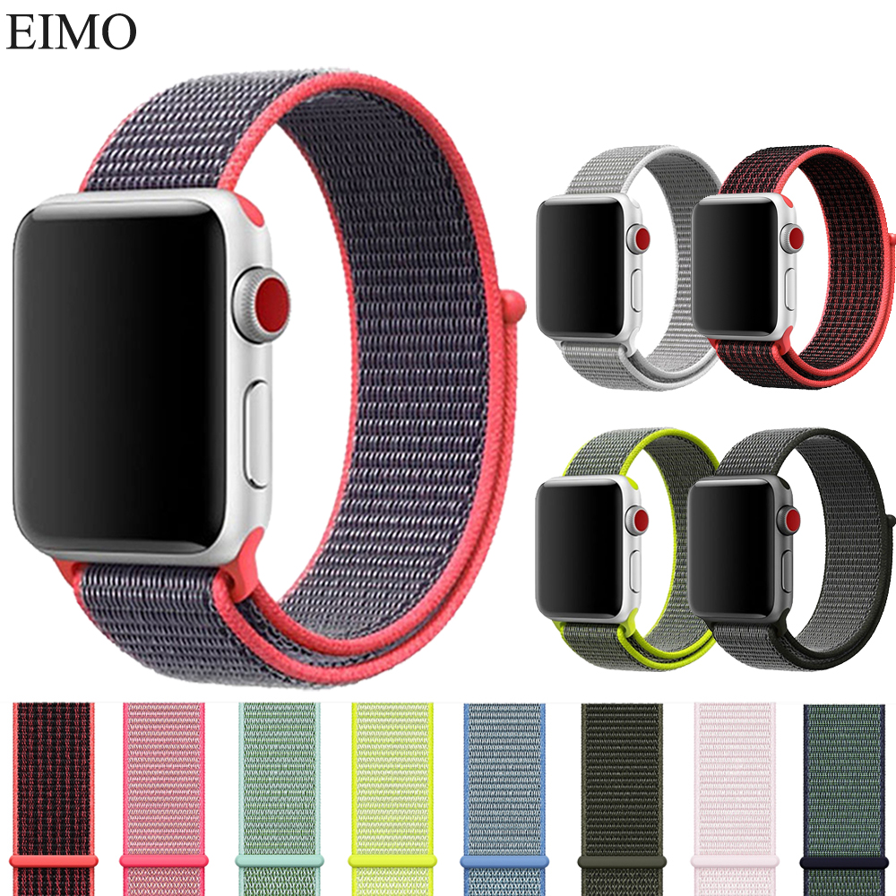 Watch Accessories Watch Straps For Apple Watch Band 42mm 38mm Nike Nylon Loop Watch Wrist Strap Bracelet Belt for Iwatch 3/2/1 crested nylon band strap for apple watch band 3 42mm 38mm survival rope wrist bracelet watch strap for apple iwatch 3 2 1 black