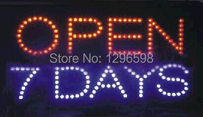 2017 direct selling 10x19 Inch Semi-outdoor Led custom neon sign for store open seven days