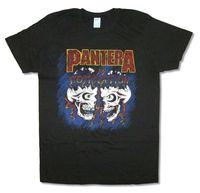 Pantera Hakimiyeti Kafatasları Renkli Görüntü içinde Siyah T Shirt Yeni Resmi Dimebag Komik Kısa Kollu Pamuk T-Shirt Gri Tarzı