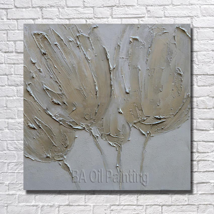 3peices hand painted canvas painting wall art knife flower oil free shipping 100 hand painted white flower oil painting home decoration modern abstract acrylic paintings mightylinksfo