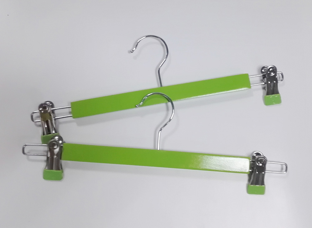 hangerlink green wooden pants hanger green skirt hanger with clips green bottom hanger 12 pcs lot